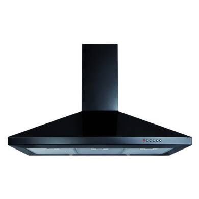 CDA H820xW900xD500 Chimney Cooker Hood - Black