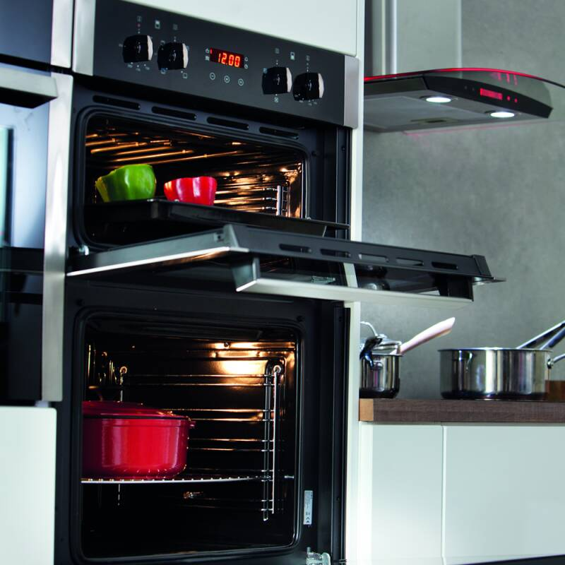 CDA H888xW595xD562 Built-In Electric Double Oven - Black additional image 1