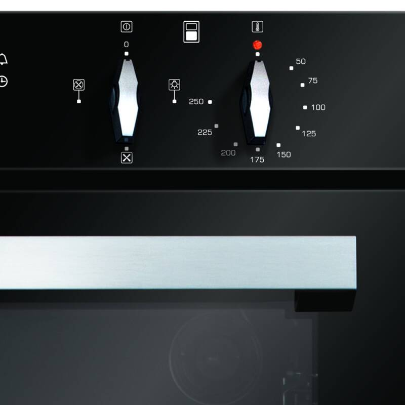 CDA H888xW595xD562 Built-In Electric Double Oven - Black additional image 4