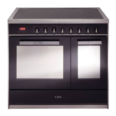 CDA H910xW900xD600 All Electric Twin Cavity Rangecooker - Stainless Steel