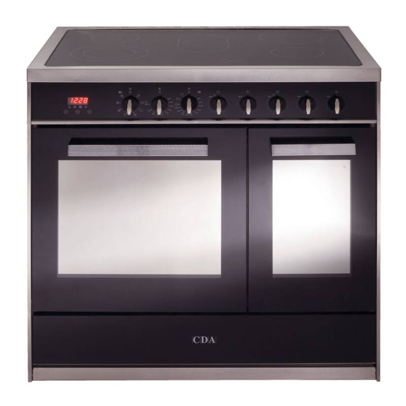 CDA H910xW900xD600 All Electric Twin Cavity Rangecooker - Stainless Steel primary image