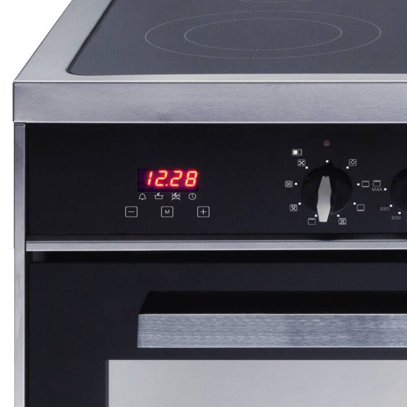 CDA H910xW900xD600 All Electric Twin Cavity Rangecooker - Stainless Steel additional image 2