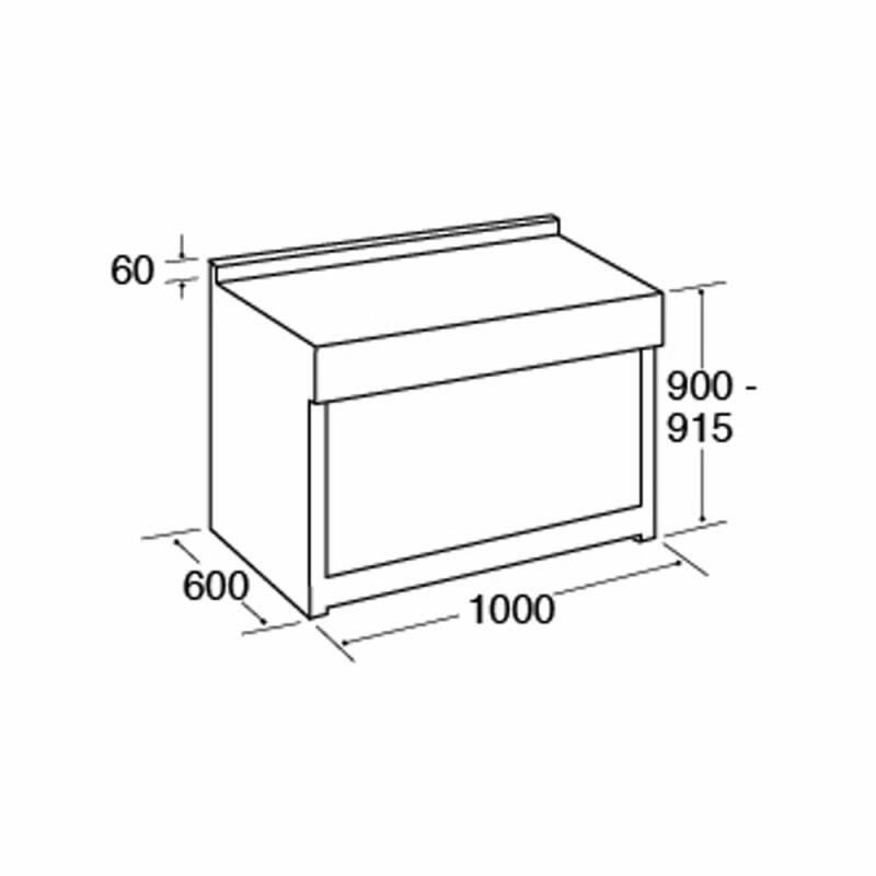 CDA H915xW1000xD600 1000mm Dual Fuel Rangecooker Twin Cavity - Stainless Steel - RV1002SS additional image 1