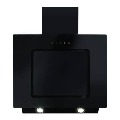CDA H930xW600xD330 Angled Chimney Hood - Black