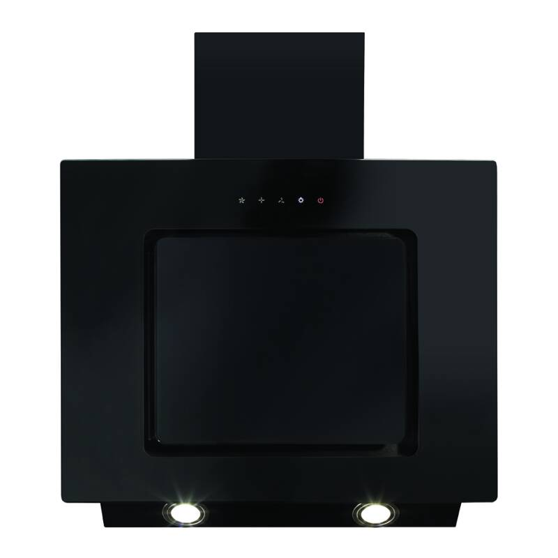 CDA H930xW600xD330 Angled Chimney Hood - Black primary image