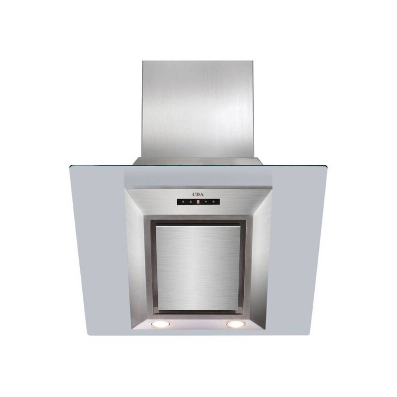 CDA H930xW600xD340 Angled Glass Chimney Cooker Hood primary image