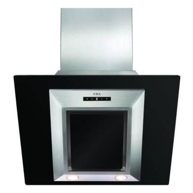 CDA H930xW600xD340 Angled Glass Chimney Cooker Hood