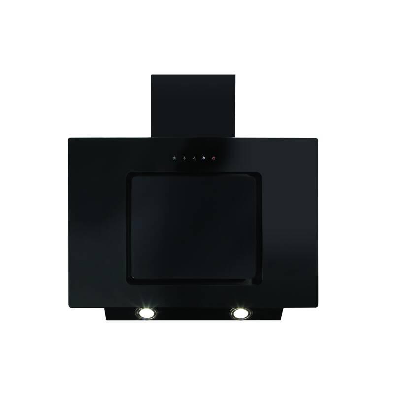 CDA H930xW700xD330 Angled Chimney Hood - Black primary image