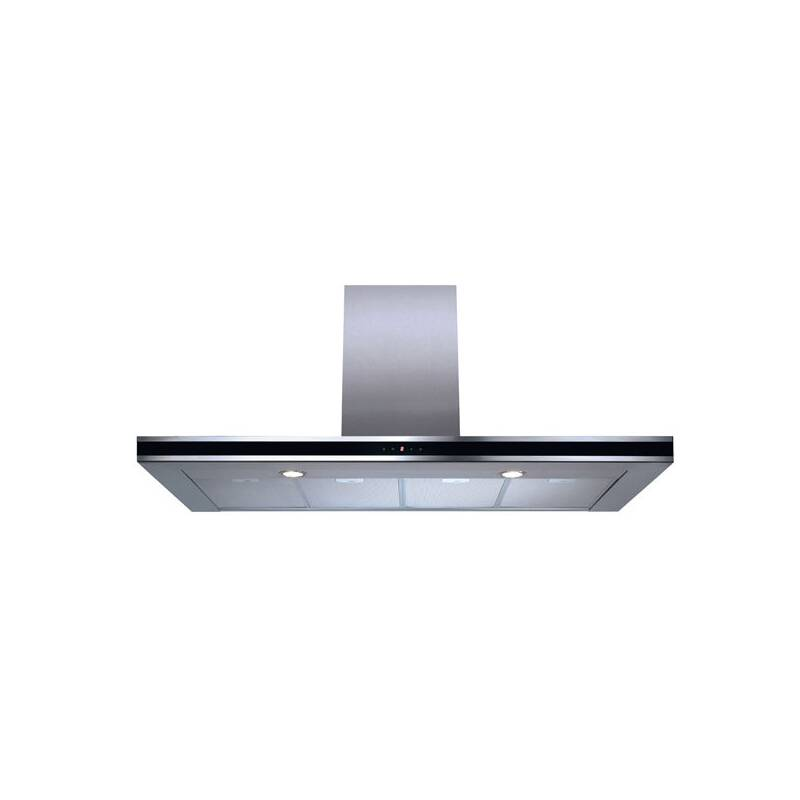 CDA H995xW1200xD490 Chimney Cooker Hood - Stainless Steel - Black Trim primary image