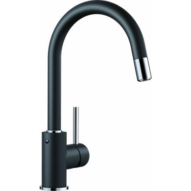 Elda Pull Out Tap Black - High Pressure Only