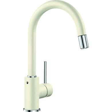 Elda Pull Out Tap Cream - High Pressure Only
