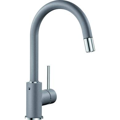 Elda Pull Out Tap Grey - High Pressure Only