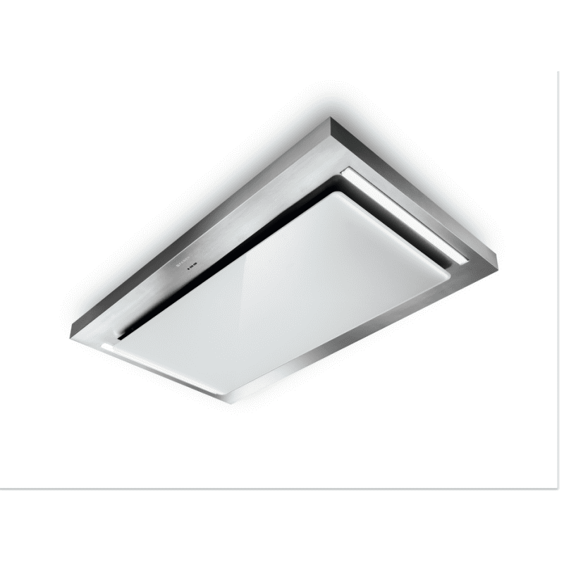 Faber H165xW1200xD700 Skypad Ceiling Hood - Stainless Steel/White Glass primary image