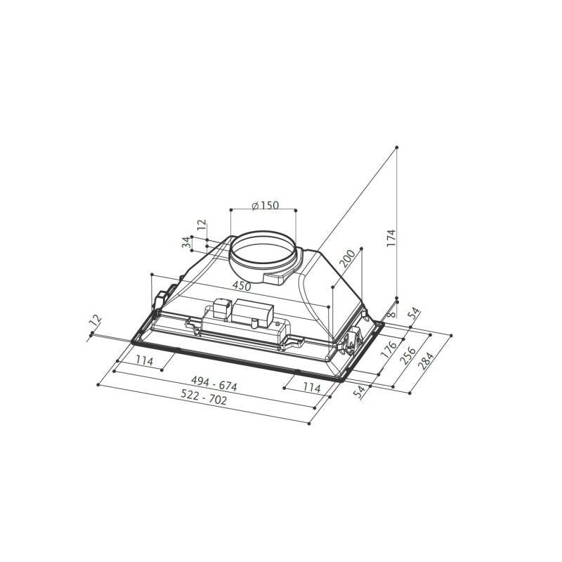 Faber H174xW702xD284 Inca Smart C GR Canopy Hood additional image 1