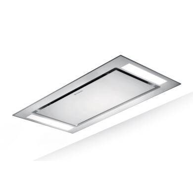 Faber H198xW1200xD700 Heaven Slim Ceiling Hood - White Glass