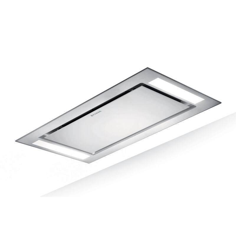 Faber H198xW1200xD700 Heaven Slim Ceiling Hood - White Glass primary image