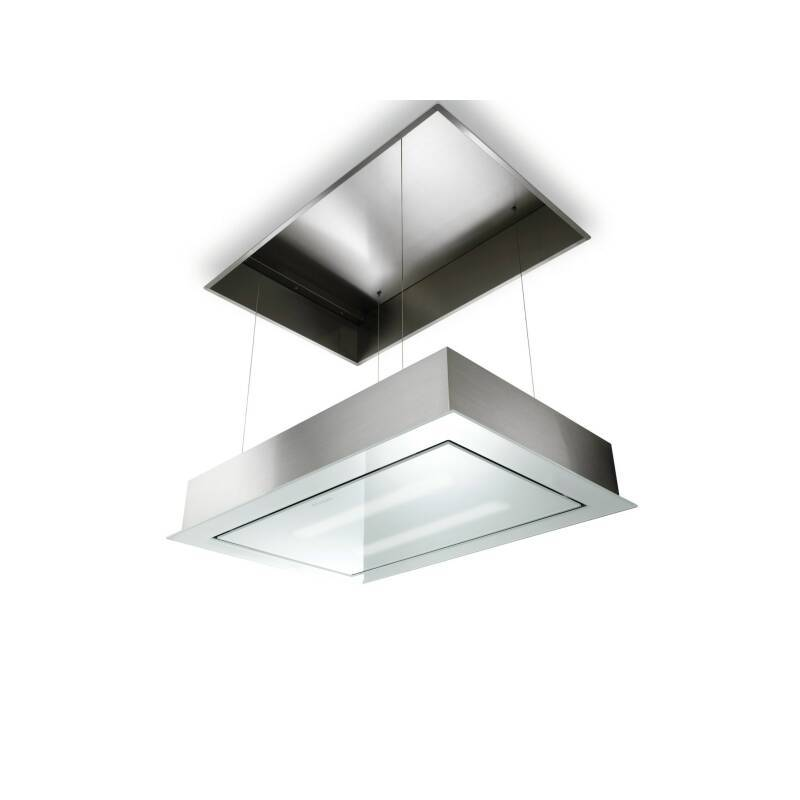Faber H228xW940xD640 SkyLift Ceiling Extractor - Stainless Steel and White Glass primary image