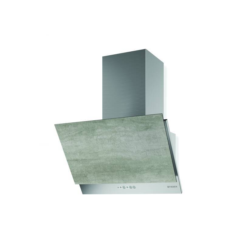 Faber H376xW590xD434 Grexia Wall Mounted Cooker Hood - Light Grey Stone/Stainless Steel primary image