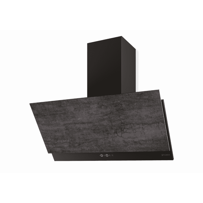 Faber H376xW890xD450 Grexia Wall Mounted Cooker Hood - Dark Grey Stone/Black primary image