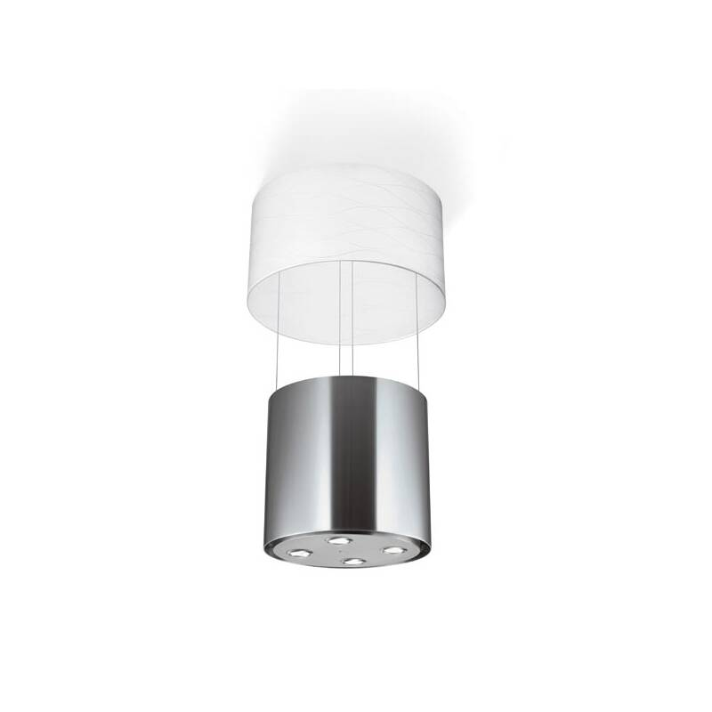 Faber H405xW518xD518 Vanilla Island Hood - Stainless Steel and White Glass primary image