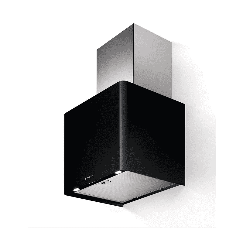 Faber H430xW450xD380 Lithos Wall Mounted Hood - Black Matt primary image
