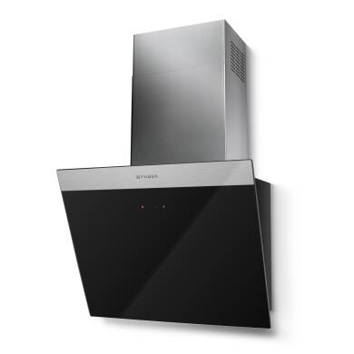 Faber H450xW548xD338 Daisy Wall Mounted Hood Black Glass