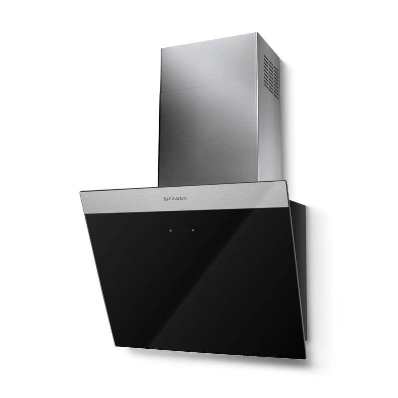 Faber H450xW548xD378 Daisy B Wall Mounted Hood - Black Glass primary image