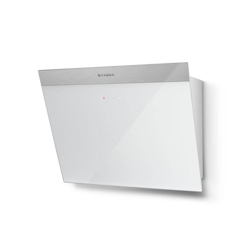 Faber H450xW548xD378 Daisy B Wall Mounted Hood - White Glass additional image 1