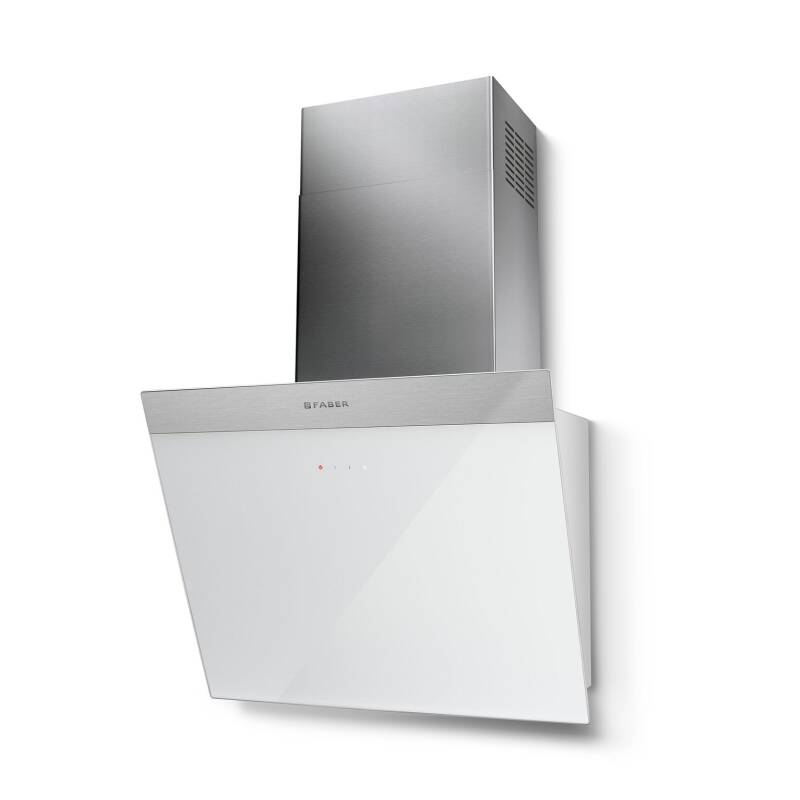 Faber H450xW548xD378 Daisy B Wall Mounted Hood - White Glass primary image