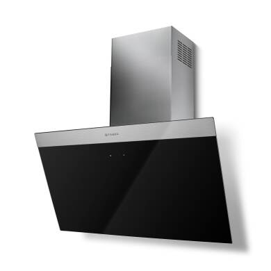 Faber H450xW798xD378 Daisy B Wall Mounted Hood - Black Glass