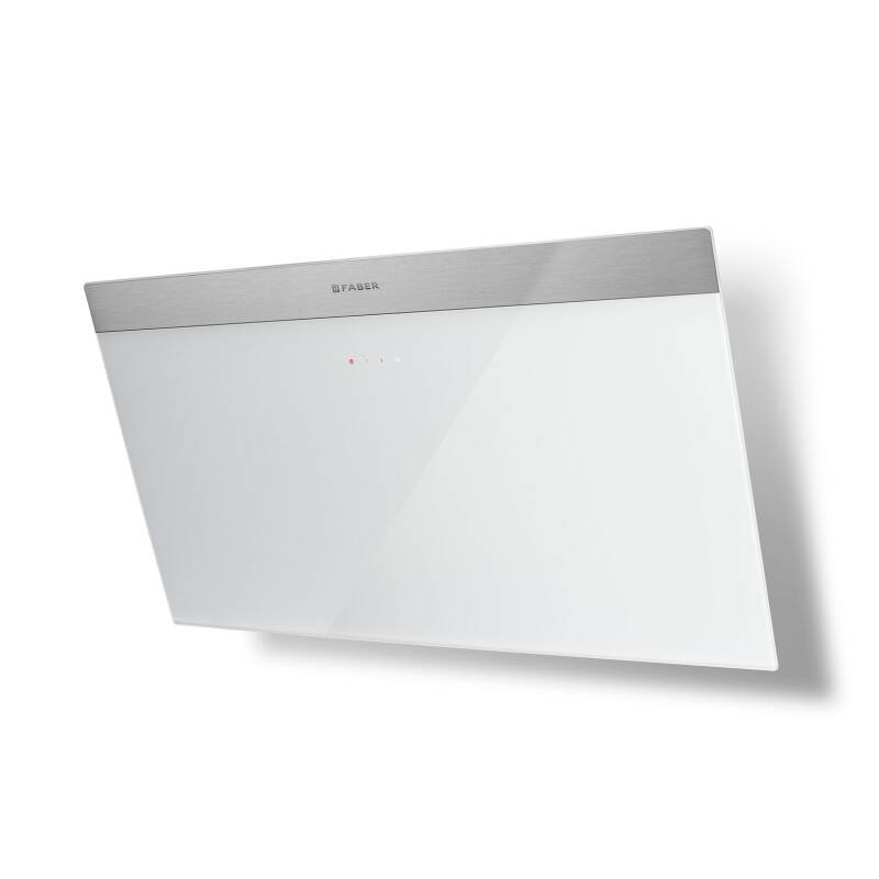 Faber H450xW798xD378 Daisy B Wall Mounted Hood - White Glass additional image 1