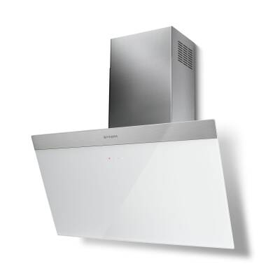 Faber H450xW798xD378 Daisy B Wall Mounted Hood - White Glass