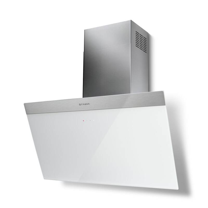 Faber H450xW798xD378 Daisy B Wall Mounted Hood - White Glass primary image