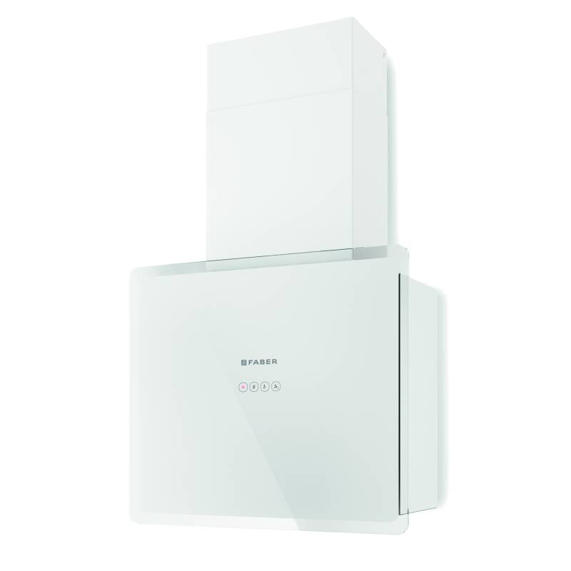 Faber H470xW548xD190 Glam Fit Wall Mounted Cooker Hood - White primary image