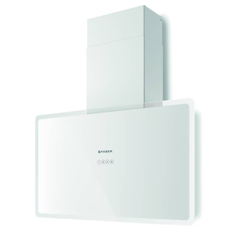 Faber H470xW798xD190 Glam Fit Wall Mounted Cooker Hood - White primary image