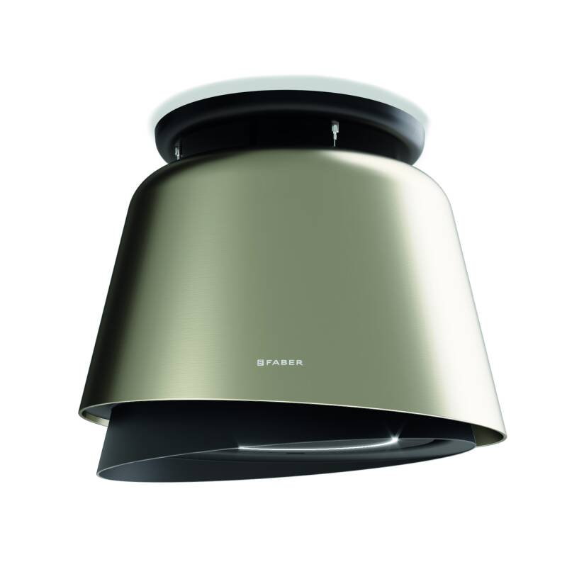 Faber H516xW693xD693 Belle Plus Island Hood - Titanium/Dark Grey Matt additional image 1