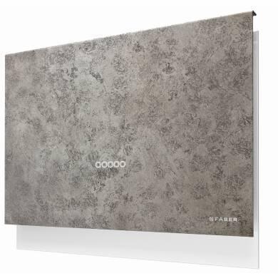 Faber H635xW798xD240 Talika Wall Mounted Cooker Hood - Dark Grey Concrete