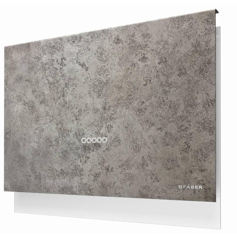 Faber H635xW798xD240 Talika Wall Mounted Cooker Hood - Dark Grey Concrete primary image