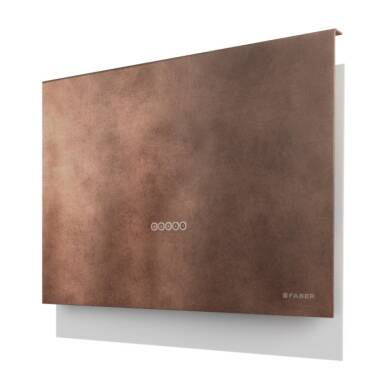 Faber H635xW798xD240 Talika Wall Mounted Cooker Hood - Old Copper