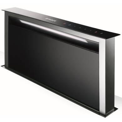 Faber H644xW880xD353 Fabula Downdraft Hood - Black Glass