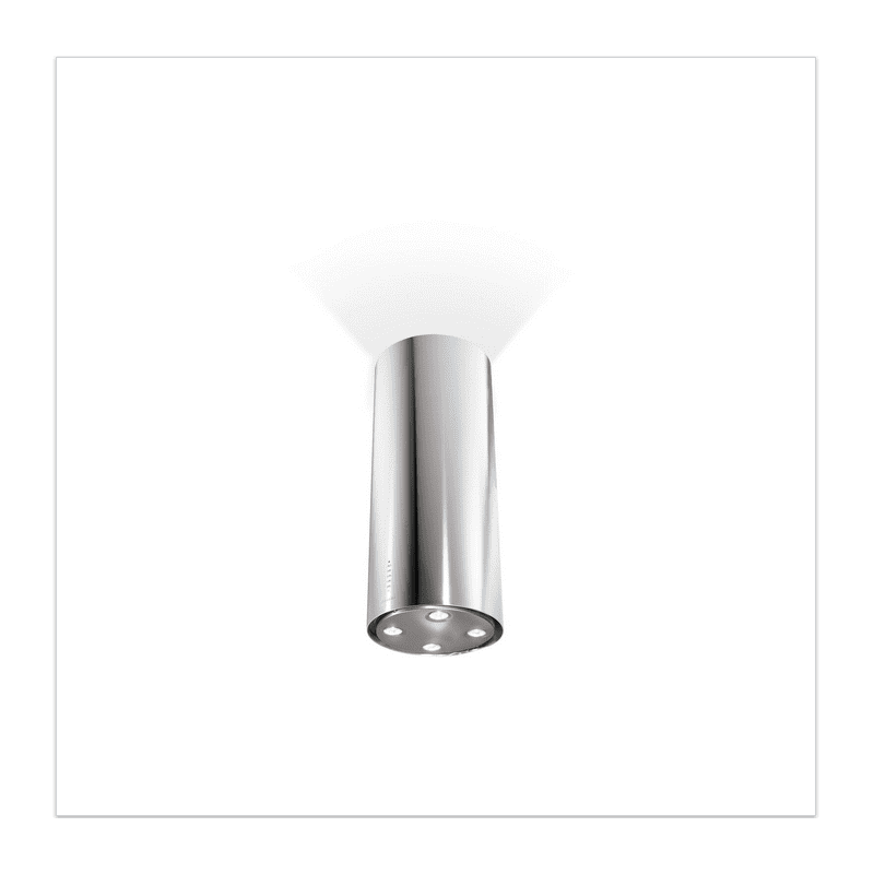 Faber H770xW370xD370 Cylindra Isola Island Hood - Stainless Steel primary image