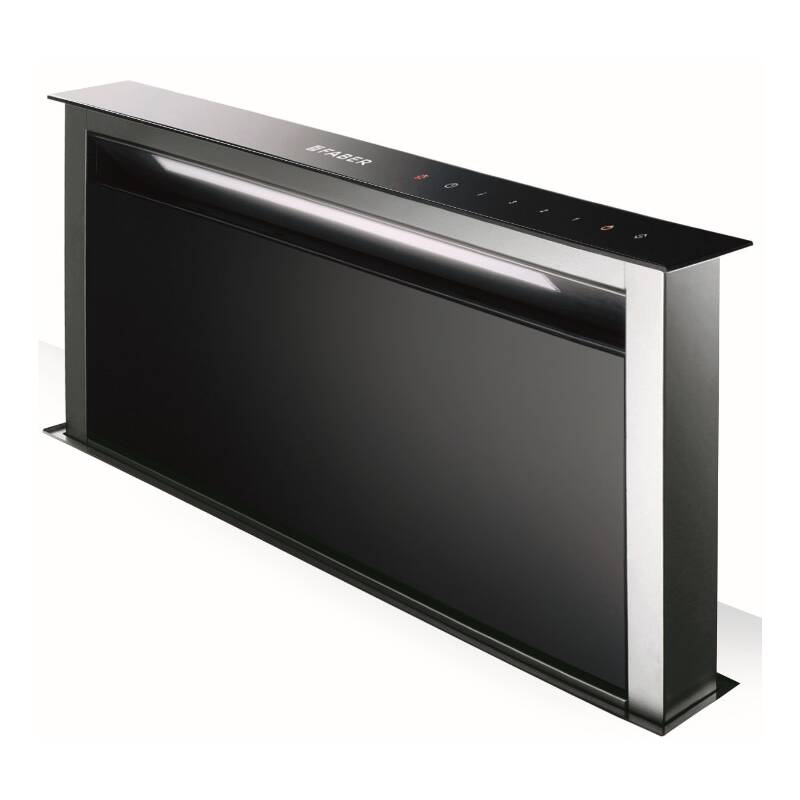 Faber H880xW794xD353 Fabula  Downdraft Hood - Black Glass primary image