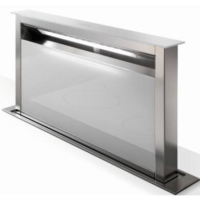 Faber H880xW794xD353 Fabula Downdraft Hood - White Glass