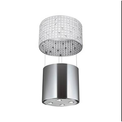 Faber Luxia 530mm Island Hood Stainless Steel and Glass