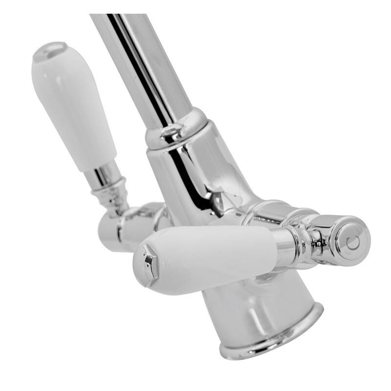 Fortuna Tap Chrome with White Handles - High/Low Pressure additional image 1