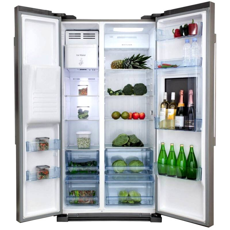 H1820XW908XD690 Side by side American style fridge freezer additional image 1