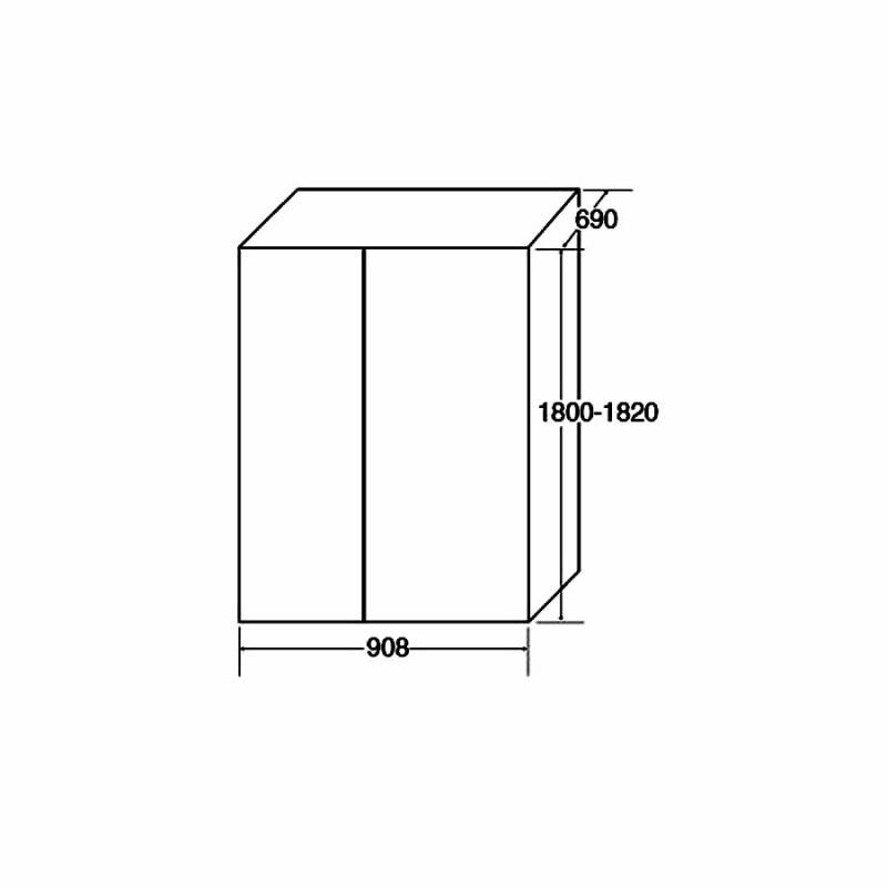 H1820XW908XD690 Side by side American style fridge freezer additional image 4