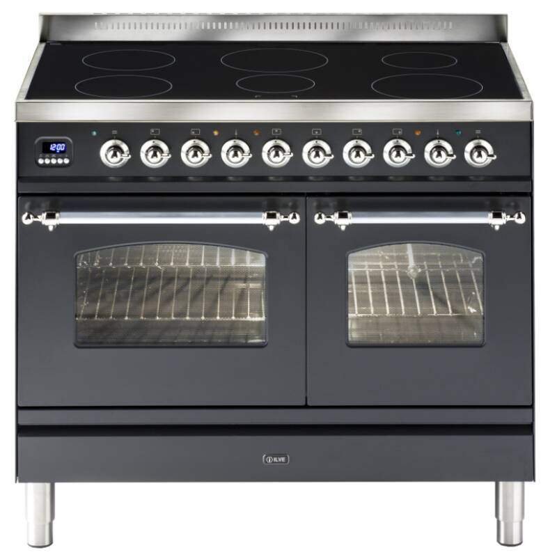 ILVE Mil 100 Twin 6 Zone Induction Black Mt Chrome primary image