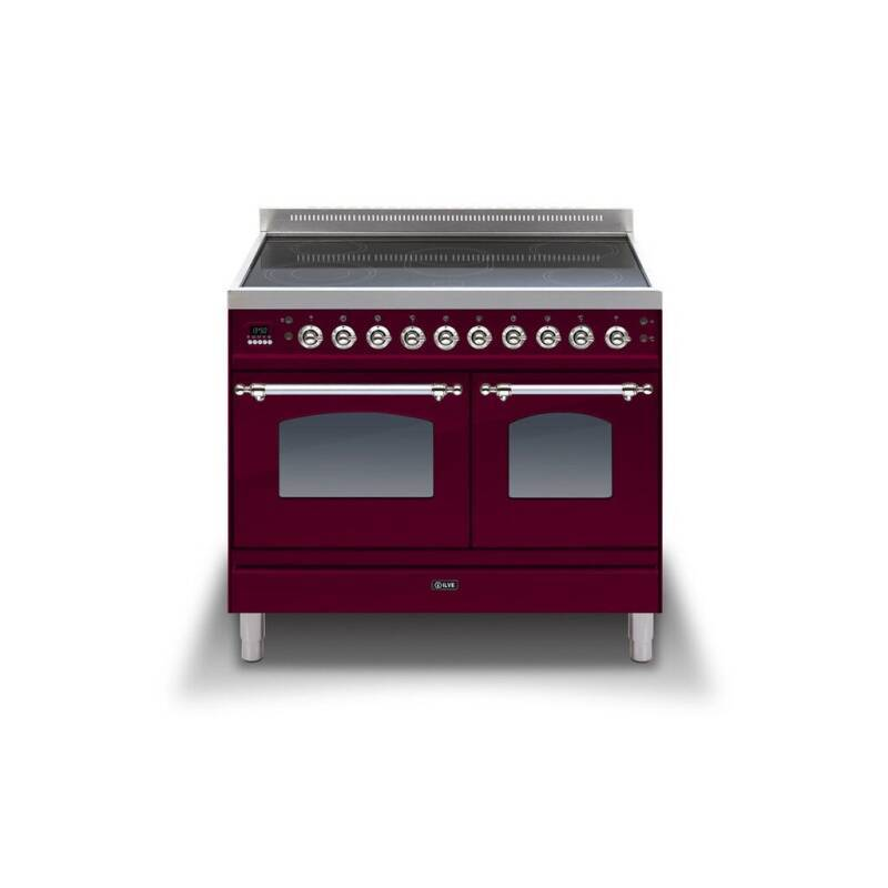 ILVE Mil 100 Twin 6 Zone Induction Burgundy Chrome additional image 1