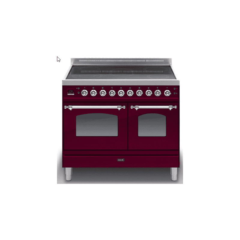 ILVE Mil 100 Twin 6 Zone Induction Burgundy Chrome primary image